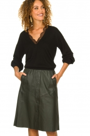 Dante 6 |  Leather skirt Reid | green  | Picture 2