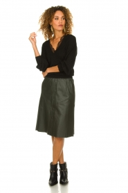 Dante 6 |  Leather skirt Reid | green  | Picture 3
