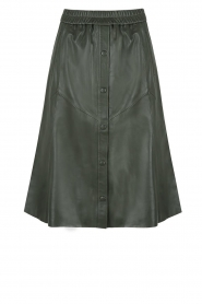 Dante 6 |  Leather skirt Reid | green  | Picture 1