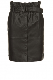Dante 6 |  Leather paperbag skirt Couric | black  | Picture 1