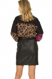 Dante 6 |  Leather paperbag skirt Couric | black  | Picture 5