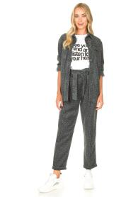 Kocca | Pants with print Zilon | grey  | Picture 3