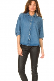 Set |  Denim shirt Ally | blue  | Picture 4