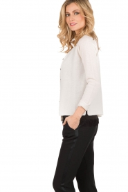 Woolen cardigan with cashmere Laica | white