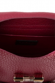 Furla | Leren schoudertas Club Mini | Bordeaux   | Afbeelding 6