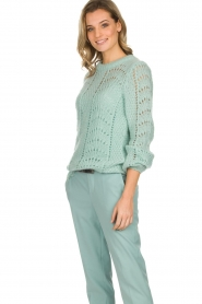 Set |  Knitted sweater Snow | blue  | Picture 4
