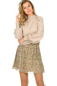 Dante 6 |  Skirt with lurex Franni | beige  | Picture 2
