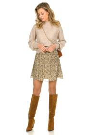 Dante 6 |  Skirt with lurex Franni | beige  | Picture 3