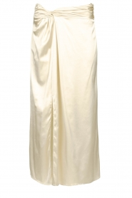 Patrizia Pepe |  Maxi skirt with split Shine | natural  | Picture 1