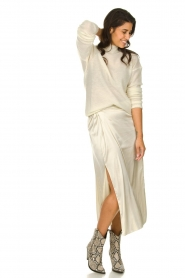 Patrizia Pepe |  Maxi skirt with split Shine | natural  | Picture 3