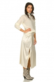 Patrizia Pepe |  Maxi skirt with split Shine | natural  | Picture 4
