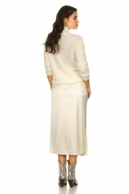Patrizia Pepe |  Maxi skirt with split Shine | natural  | Picture 5