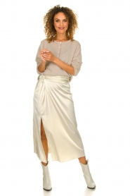 Patrizia Pepe |  Maxi skirt with split Shine | natural  | Picture 2