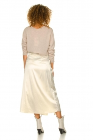 Patrizia Pepe |  Maxi skirt with split Shine | natural  | Picture 6