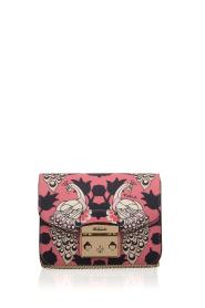 Furla | Leren schoudertal Metropolis Mini | roze  | Afbeelding 2