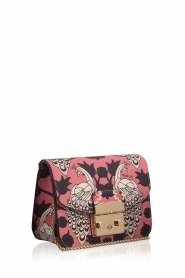 Furla | Leren schoudertal Metropolis Mini | roze  | Afbeelding 3