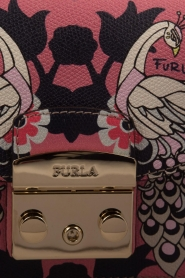 Furla | Leren schoudertal Metropolis Mini | roze  | Afbeelding 5