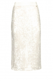 Patrizia Pepe |  Sequinned skirt Disco | natural  | Picture 1
