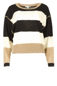 Kocca | Sweater with lurex details Weisse | black  | Picture 1