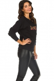 Set |  Sweatshirt with print Love | black  | Picture 5