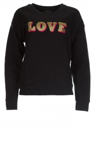 Set |  Sweatshirt with print Love | black  | Picture 1