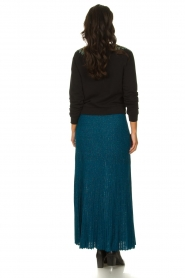 Patrizia Pepe |  Pleated skirt Dede | blue   | Picture 4