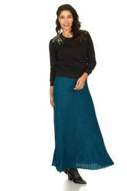 Patrizia Pepe |  Pleated skirt Dede | blue   | Picture 2