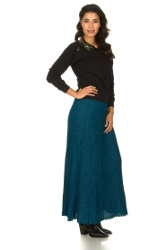 Patrizia Pepe |  Pleated skirt Dede | blue   | Picture 3