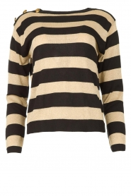 Kocca | Striped sweater Glavur | black  | Picture 1