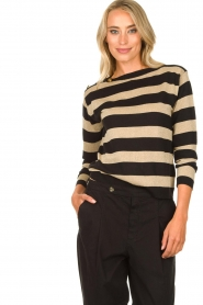 Kocca | Striped sweater Glavur | black  | Picture 7