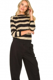 Kocca | Striped sweater Glavur | black  | Picture 4