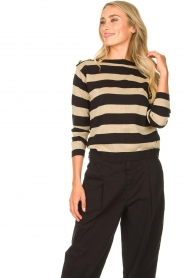 Kocca | Striped sweater Glavur | black  | Picture 2