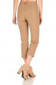 Patrizia Pepe | High waist broek Bibianne | bruin  | Afbeelding 4