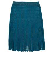 Patrizia Pepe |  Plisse mini skirt Sea | blue  | Picture 1