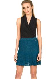 Patrizia Pepe |  Plisse mini skirt Sea | blue  | Picture 2