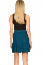Patrizia Pepe |  Plisse mini skirt Sea | blue  | Picture 6