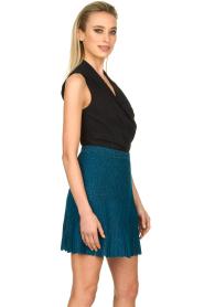 Patrizia Pepe |  Plisse mini skirt Sea | blue  | Picture 5