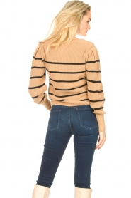 Set    Cotton sweater with fine puff Louise   camel    Picture 6