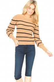 Set    Cotton sweater with fine puff Louise   camel    Picture 4