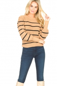 Set    Cotton sweater with fine puff Louise   camel    Picture 2