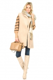 Set    Cotton sweater with fine puff Louise   camel    Picture 3