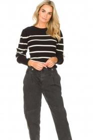 Set   Katoenen trui met fijne pof Louise   zwart     Afbeelding 2
