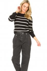 Set   Katoenen trui met fijne pof Louise   zwart     Afbeelding 4