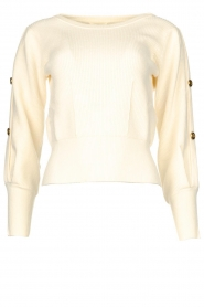 Kocca |  Sweater with sleeve details Blasius | white  | Picture 1