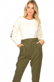 Kocca |  Sweater with sleeve details Blasius | white  | Picture 2