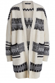 Set |  Knitted cardigan with aztec print Polly | natural  | Picture 1