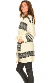 Set |  Knitted cardigan with aztec print Polly | natural  | Picture 5