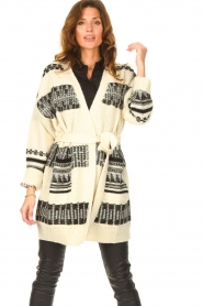 Set |  Knitted cardigan with aztec print Polly | natural  | Picture 2