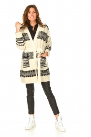 Set |  Knitted cardigan with aztec print Polly | natural  | Picture 3
