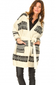 Set |  Knitted cardigan with aztec print Polly | natural  | Picture 4